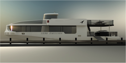 Rendering of water taxi concept
