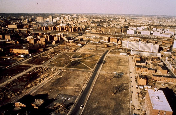 Demolished lots north of Dudley Square c. 1970