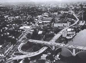 Order and cancer; Key Bridge and Whitehurst Freeway in Washington DC.