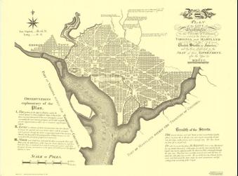1790s, L'Enfant Plan, Washington DC