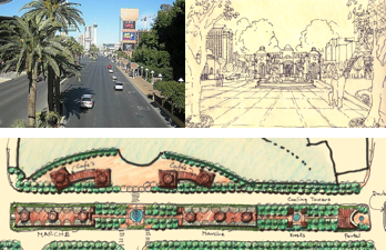 Las Vegas Boulevard as it is and as it will be