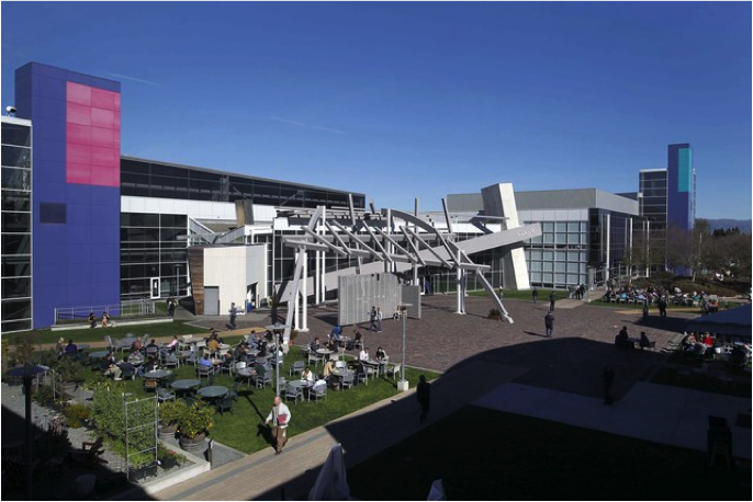 Google's Headquarters in Mountainview, Photo Credit: Tony Avelar/Bloomberg
