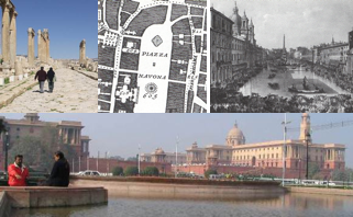 Gerash, Jordan, Piazza Navona plan and perspective