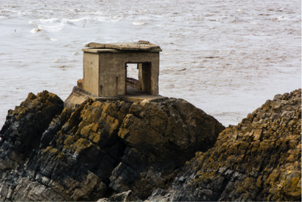 Abandoned defense post on the British coast. Credit: Ian Redding