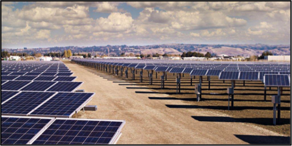1 MW Photovoltaic Array at the Treatment Facility, installed in 2011