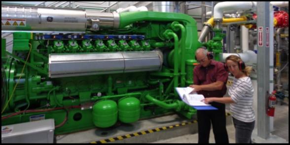 Hayward's new cogeneration engine, installed in 2014